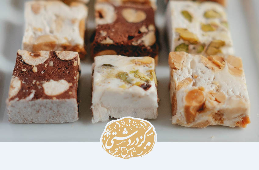 انواع گز شامل شکلاتی پسته ای