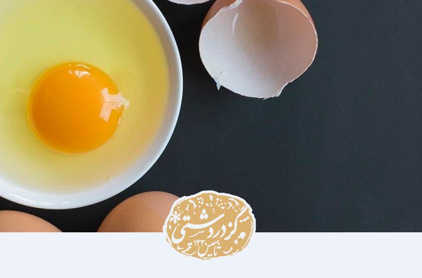 تخم مرغ از مواد تشکیل دهنده گز است.