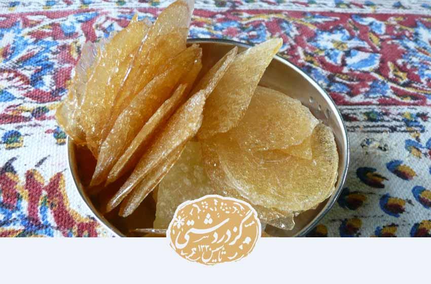 یکی از مواد غذایی پرکالری، آبنبات پولکی است.